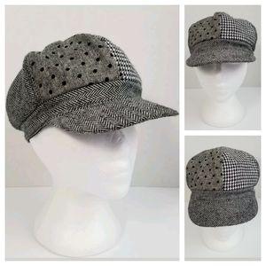 Capelli Kids M/L Black Gray Newsboy Cabbie Hat Cap